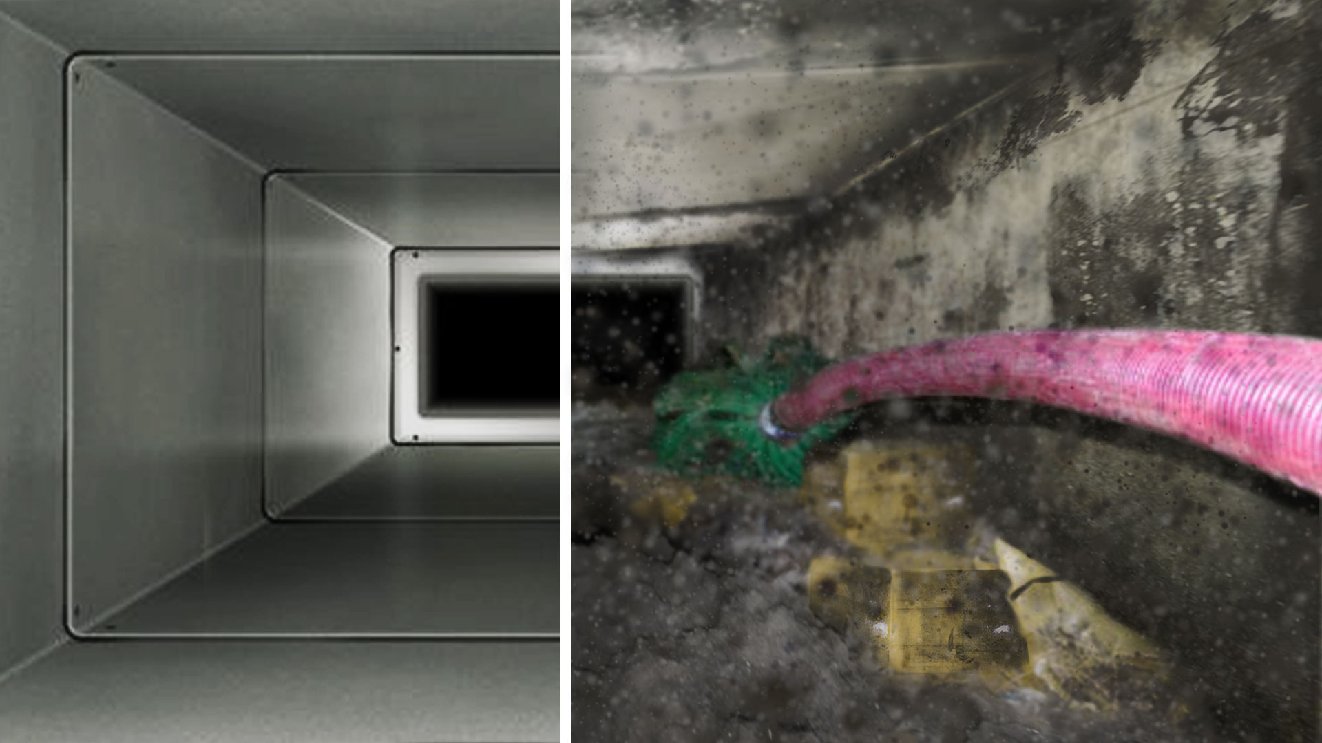 13) A dirty air duct (Duct Cleaning with Nexgen)