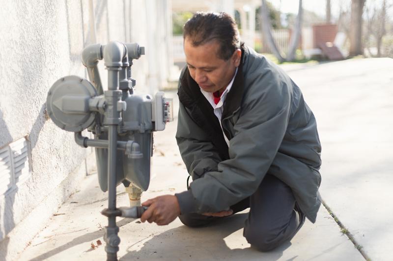 repairing a meter for gas