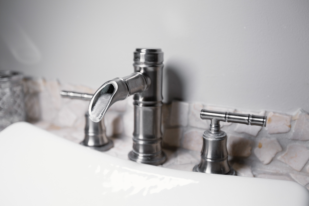Faucet in bathroom sink
