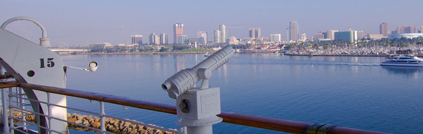 View of Long Beach from the Queen Mary