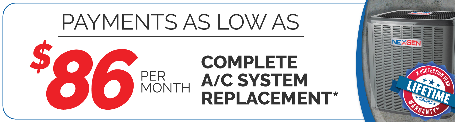 Complete AC System Replacement