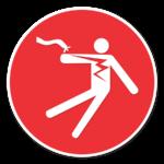 electrocution hazard icon