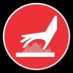 thermal burns hazard icon
