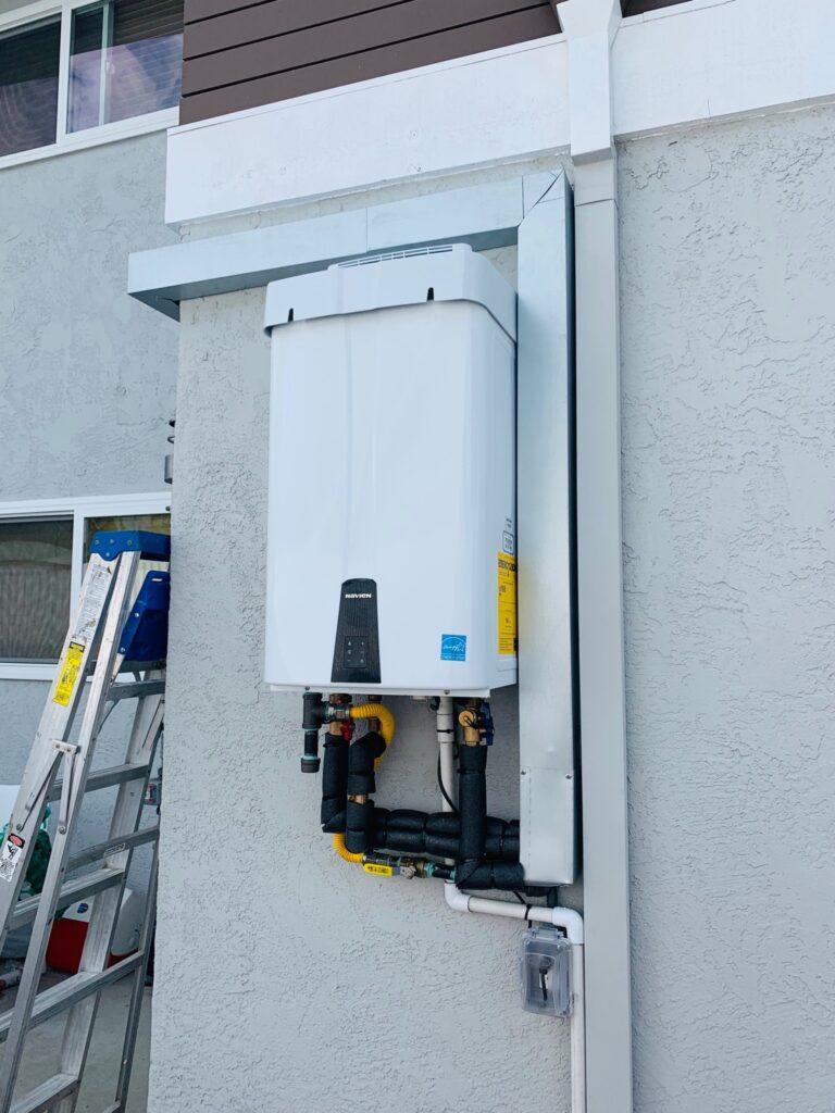 Outdoor Navien Tankless Water Heater