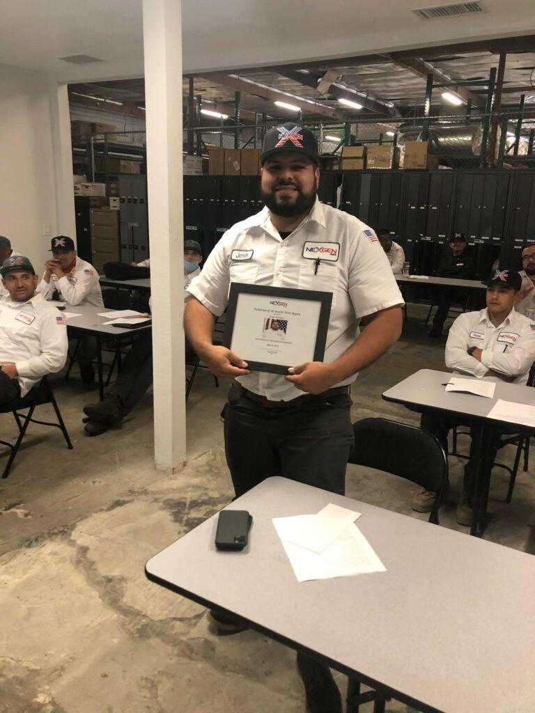 Nexgen employee award