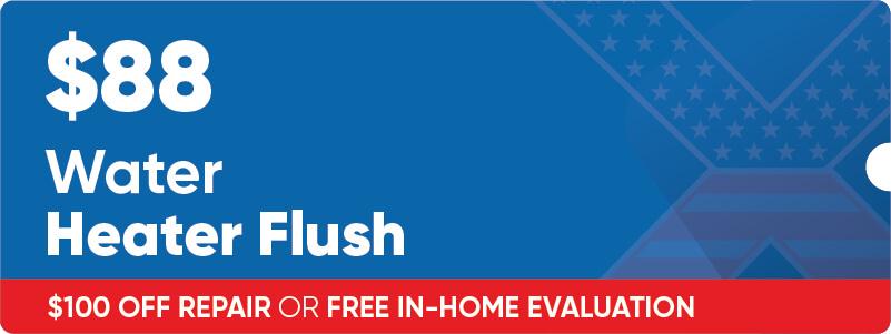 $88 Water Heater Flush Coupon