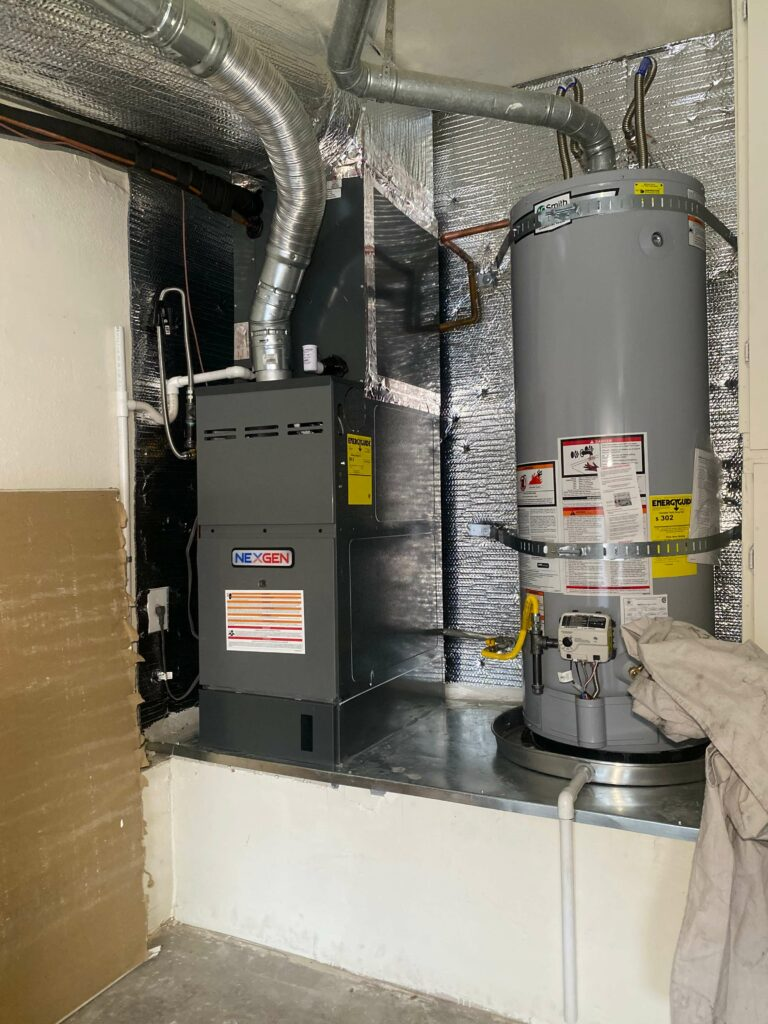 furnace and water heater