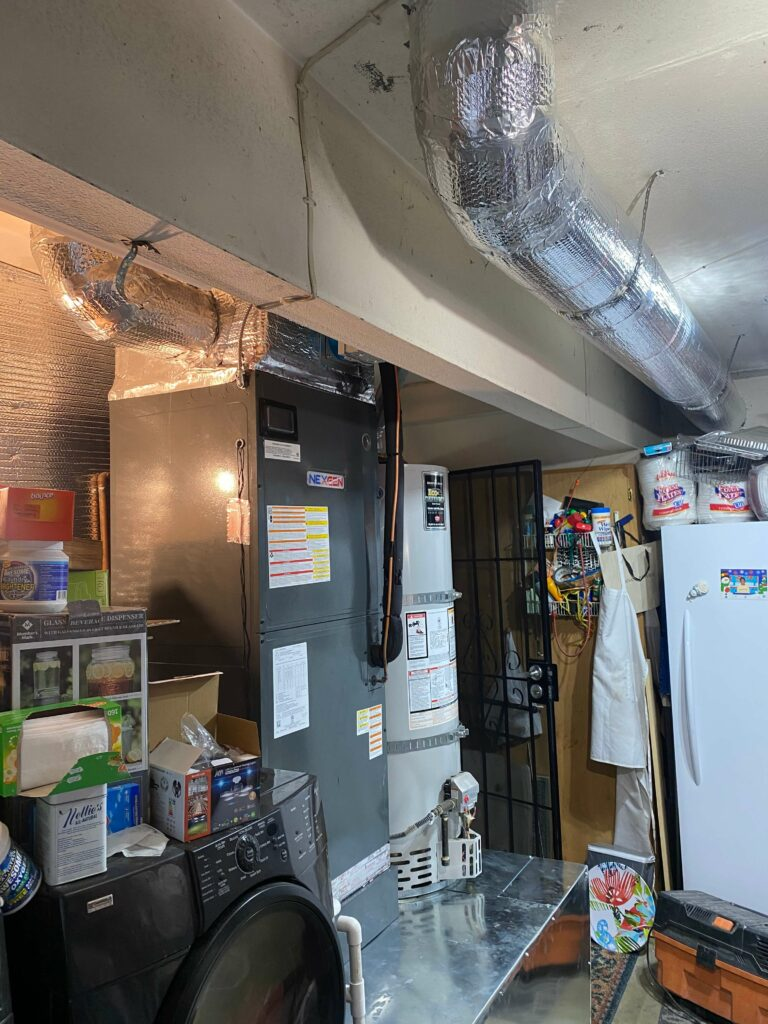 Furnace and Water Heater in Basement