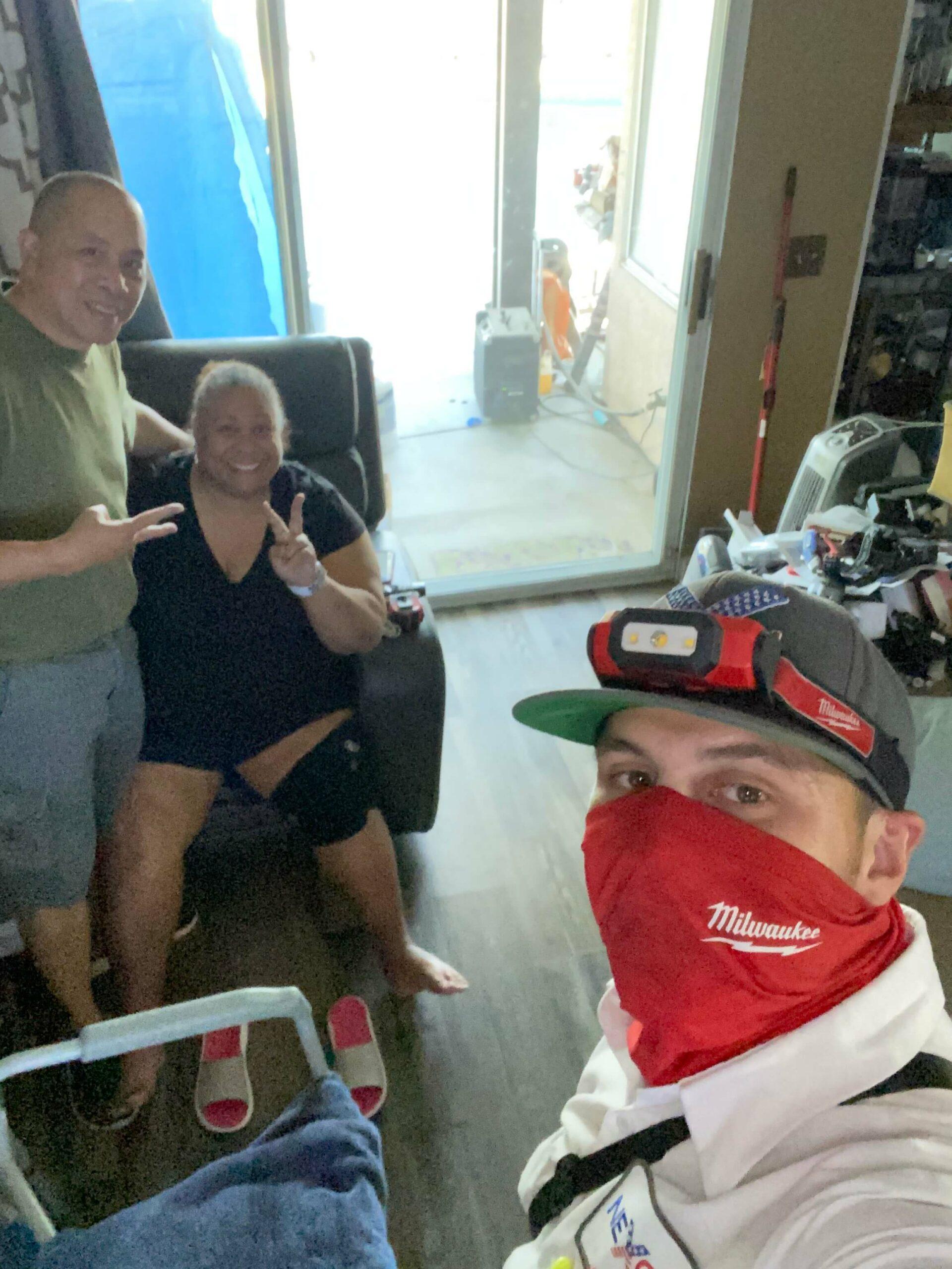 Happy Customers with Nexgen Technician