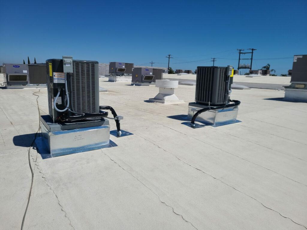 Nexgen HVAC units on rooftop backside