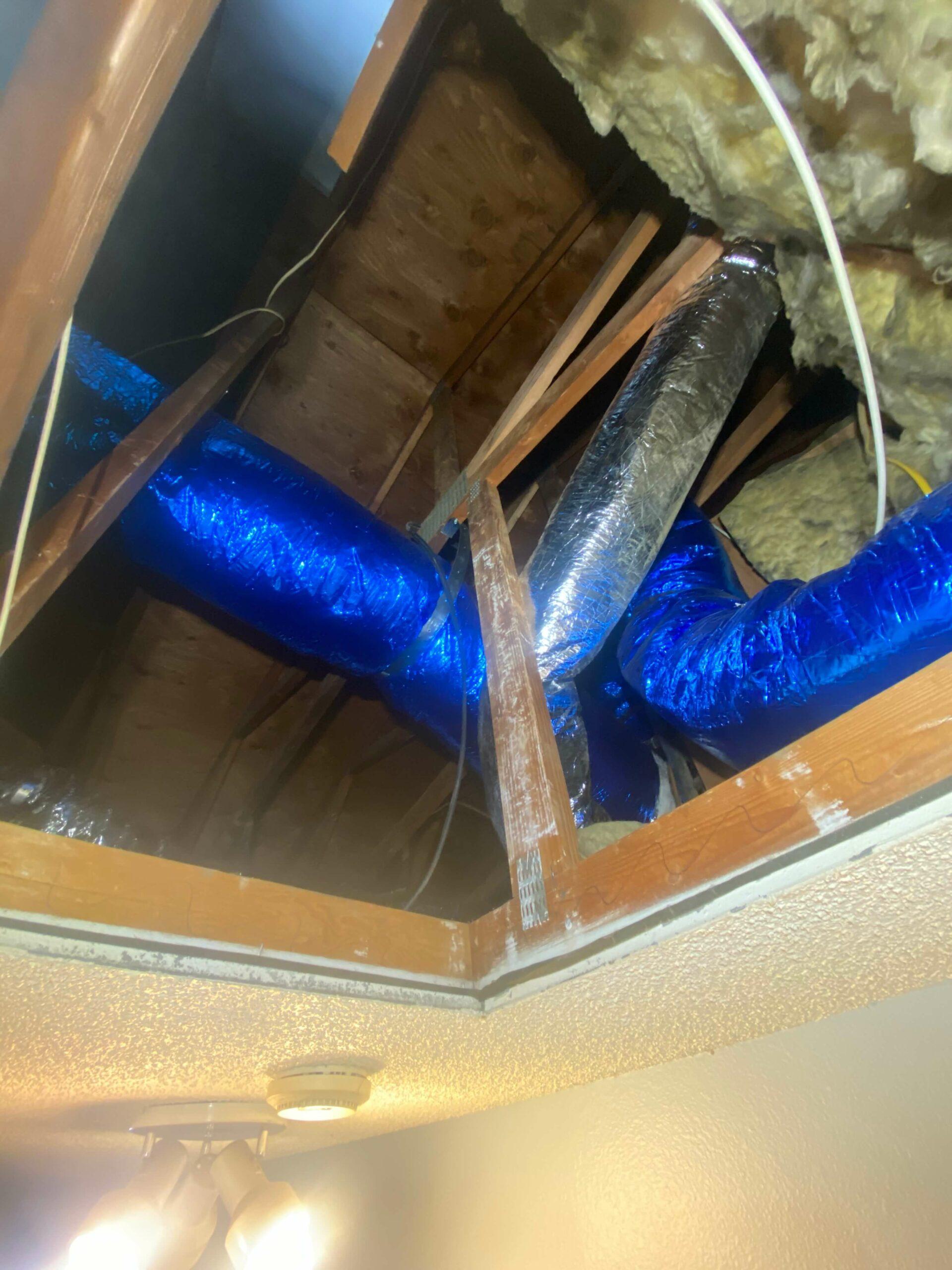 ductwork in attic