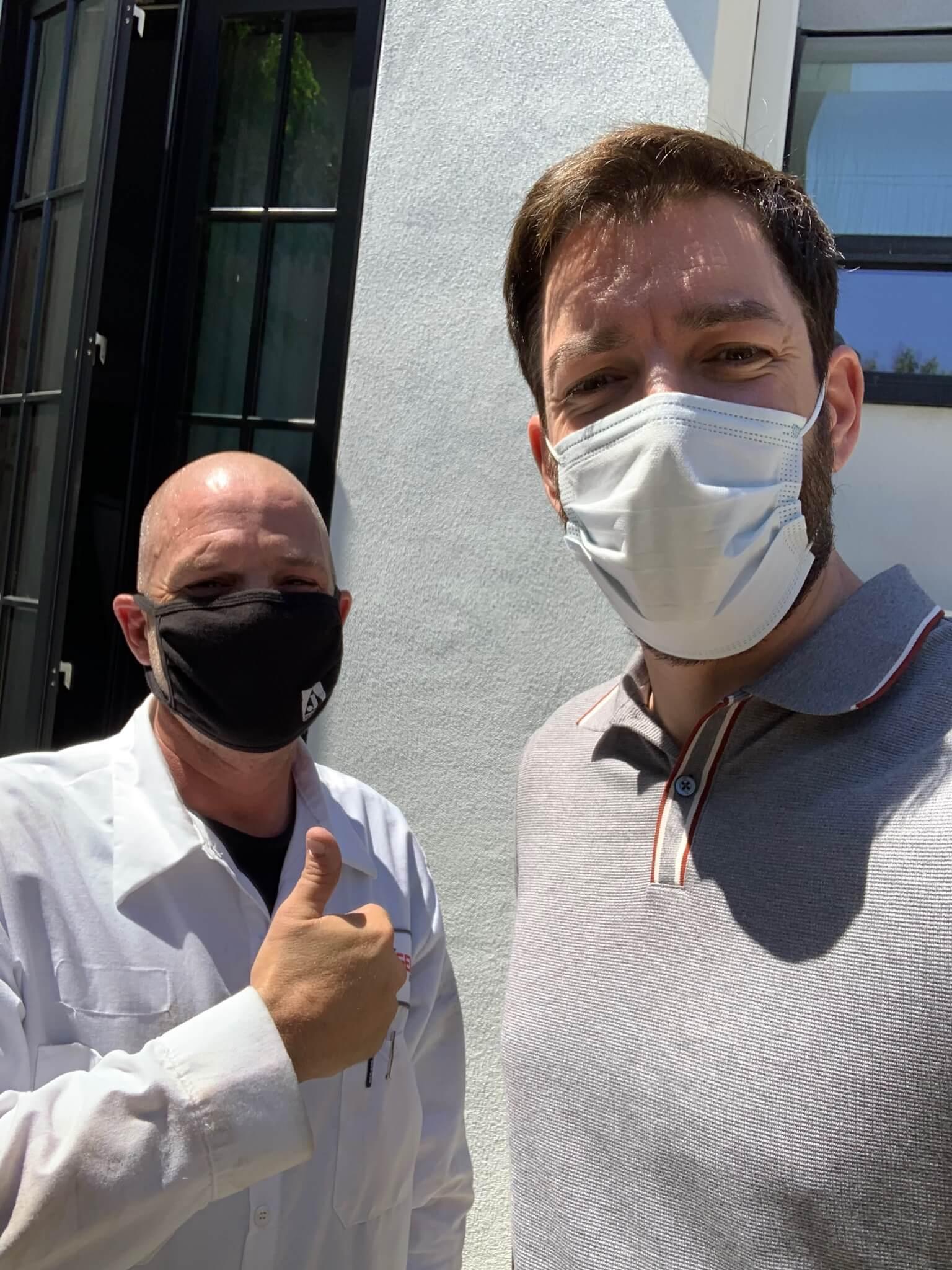 Customer with Nexgen Technician