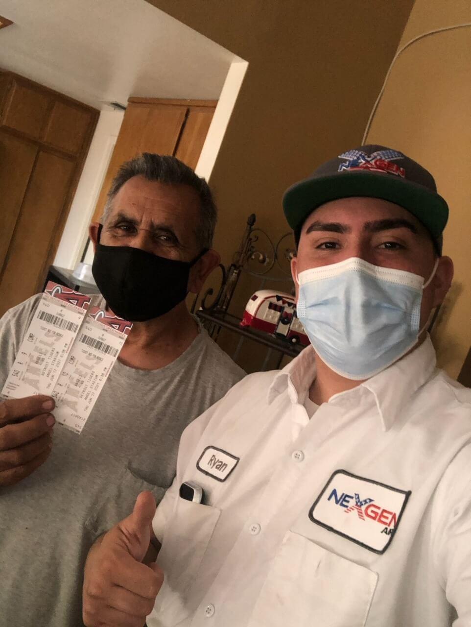 Customer Holding Tickets with Nexgen Technician