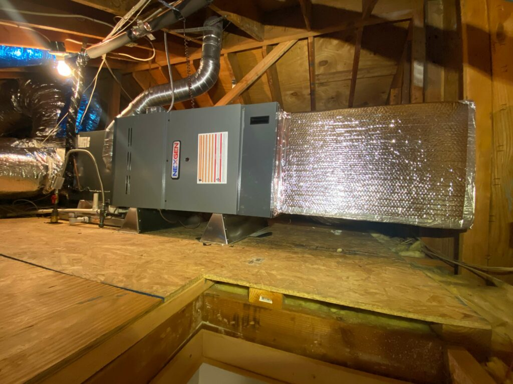 furnace in attic