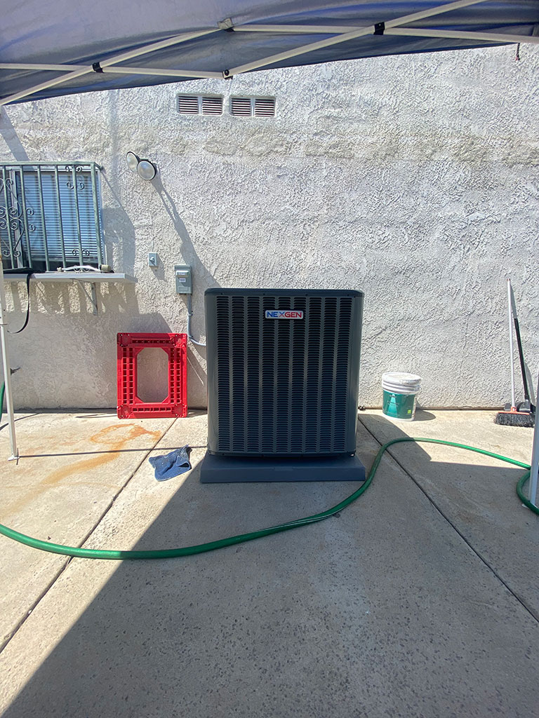 ac unit installed in July 2021