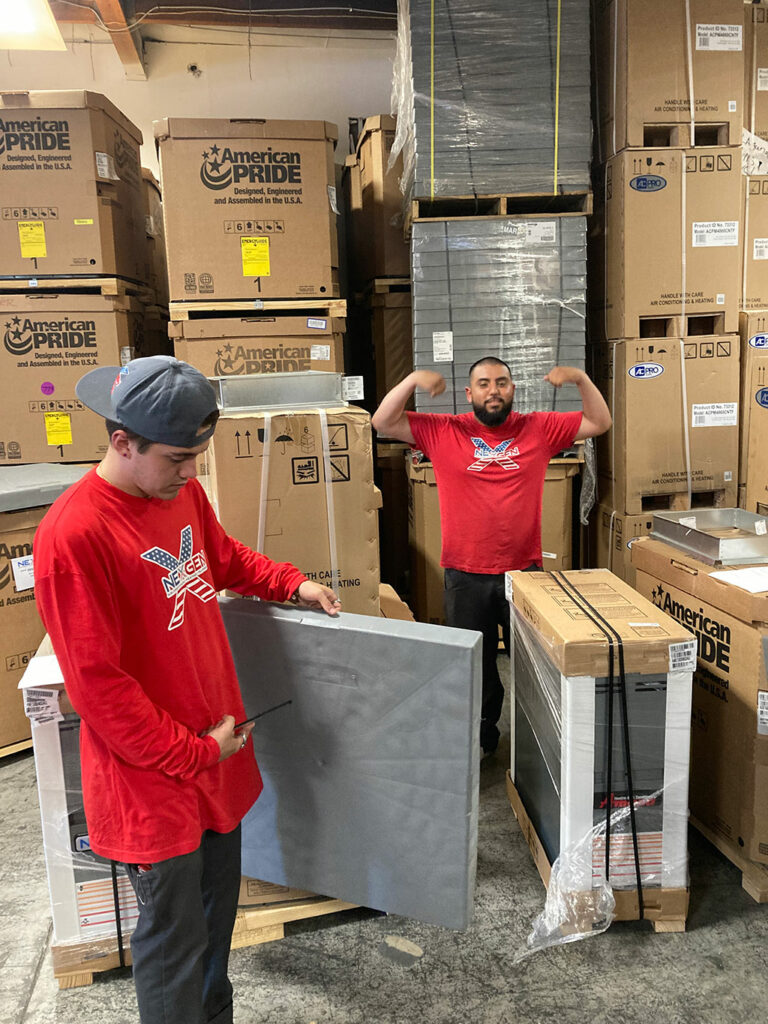 a picture of 2 man looks enjoying at work